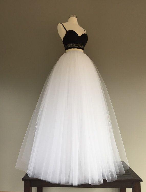 Floor length tulle skirt white tulle skirt adult by shopVmarie