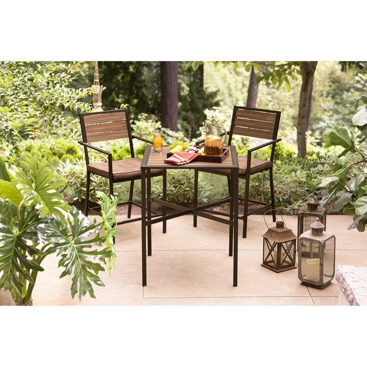 Hd designs outdoors sahara 3 piece outdoor balcony set for Balcony patio set