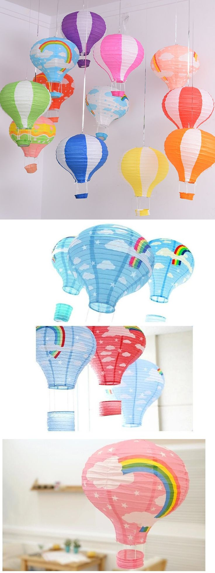 бумажные фонарики, классное украшение для дома, детской, торжества и просто для хорошего настроения!