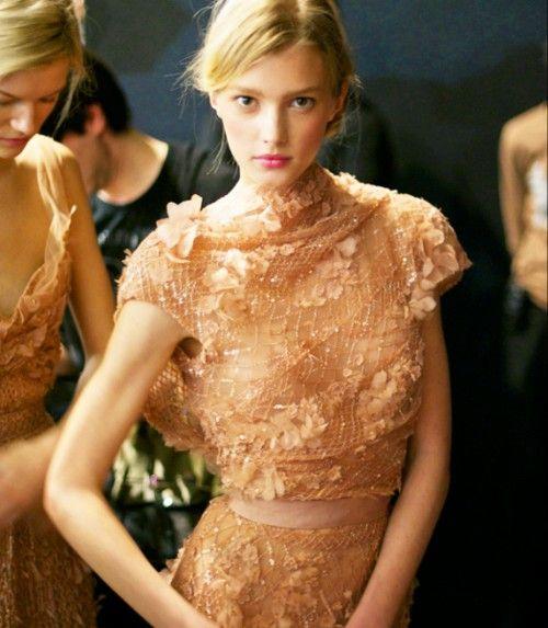 peachEliesaab, Paris Fashion, Elie Saab, Style, Ellie Will Be, Gowns, Fall Fashion, Lace Dresses, Haute Couture