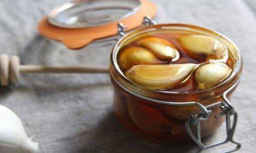 Middel van honing en knoflook voor de lever