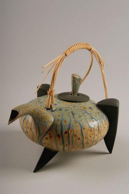 This teapot is a strange beast! (Robert Pillars by American Museum of Ceramic Art, via Flickr)