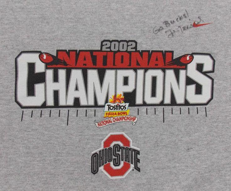 Ohio State University Jim Tressel Signed 2002 OSU National Champions Sweatshirt
