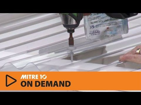 How to Install Clear PVC Roofing| Mitre 10 Easy As - YouTube