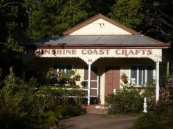 Sunshine Coast Crafts - one of the many craft outlets at Montville in the Sunshine Coast hinterland.  It's great just to walk down the sloping main street of this mountain village to take in the sights and sounds.