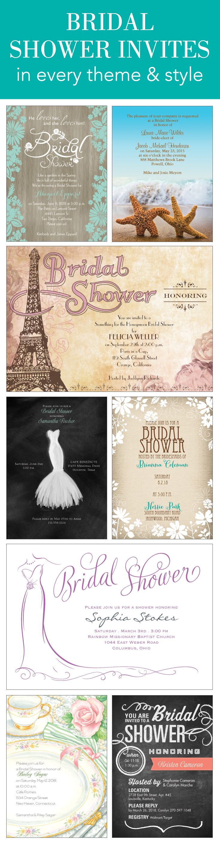 Planning a bridal shower Set your theme