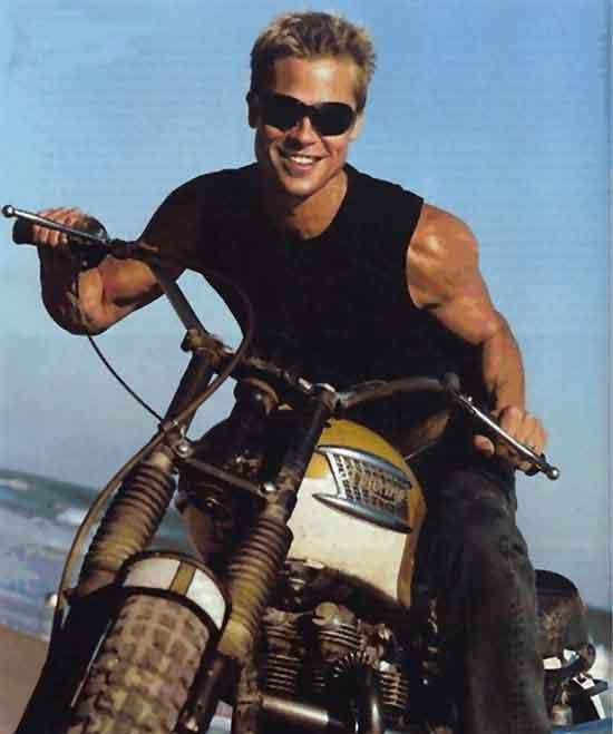 Brad Pitt as Steve Mcqueen? - Triumph Forum: Triumph Rat Motorcycle Forums