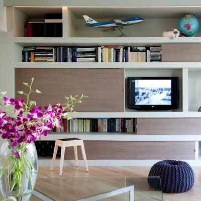 Bibliothèque à panneaux coulissants - Du Cote de chez Vous