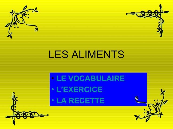 les-aliments-236890 by juantortiz via Slideshare