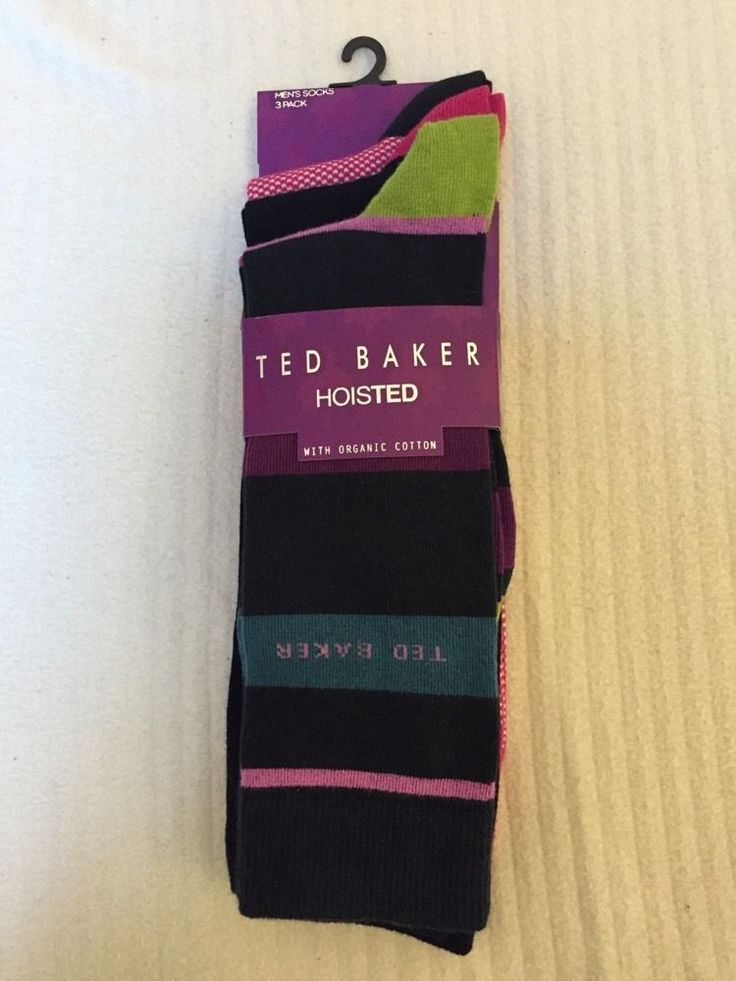 3 TED BAKER HOISTED With Organic Cotton sock set BNWT RRP£22 Multi Coloured