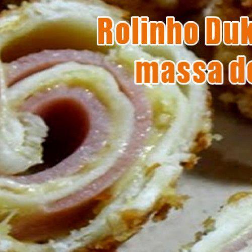 Rolinho Dukan com presunto e queijo