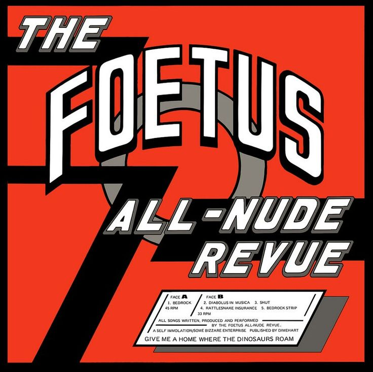 Bedrock - The Foetus All Nude Revue (Back cover).