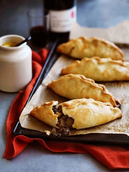 Cornish pasties — they used to sell these for lunch at the canteen when I went to school in Australia. A teacher told me Cornish miners would pack one of these for work each day, because one pasty would contain meat and vegetables, everything you'd need to keep going while working in the mines.