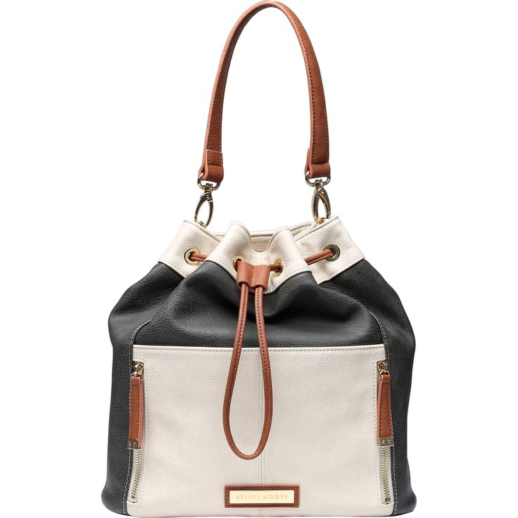 Kelly Moore Bag Austin Bag (Stone/Bone with Brown Trim)