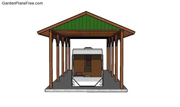 20x40 Rv Carport Plans Free Pdf Download Free Garden Plans How To Build Garden Projects Rv Carports Carport Plans Carport