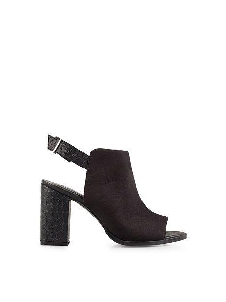 Slingback Open Toe Bootie - Nly Shoes - Svart - Festskor - Skor - Kvinna - Nelly.com