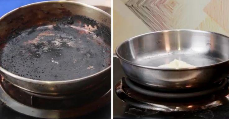 Návod jak vyčistit připálené nádobí pomocí prášku do pečiva + video