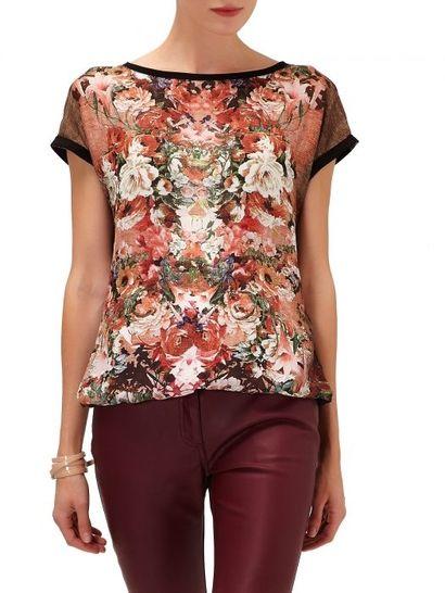 Bluzka w kwiatowy wzór - Reserved / floral shirt