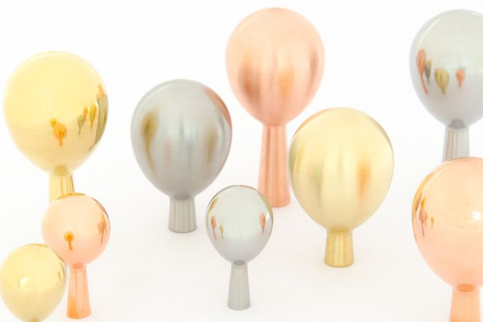 DROP series is made in two sizes and two lengths, use it as a knob or a hook. In this image you can see brass, copper, stainless steel and chrome. http://bb-sweden.se/?lang=en#drop-release-in-may