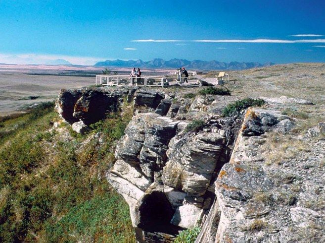 """""""Head-Smashed-In Buffalo Jump in Alberta."""" 
