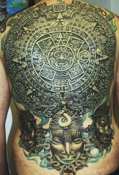 so sicckkkkk. Detailed Aztec back piece - Eclipse Tattoo Studio Imgur