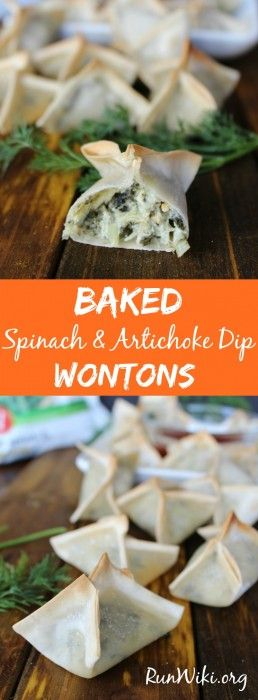 It is tough to get my kids to eat their vegetables but when I serve these baked spinach artichoke dip won tons, there is not one complaint- my family loves this lightened up appetizer. These are freezer friendly and you can make ahead which makes them ideal for game day, parties or an after school snack. Includes a vegan option. ad