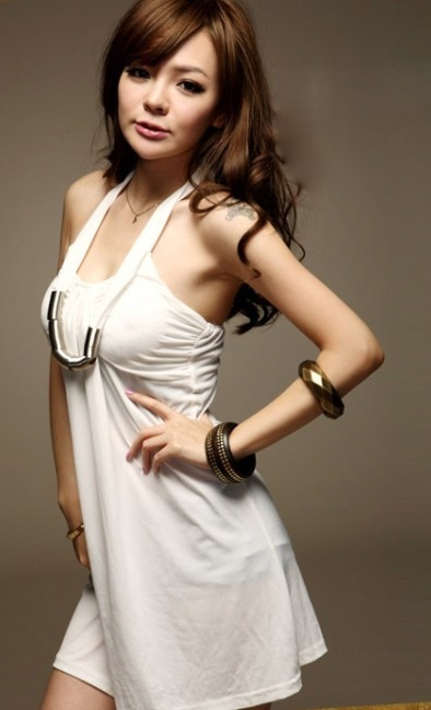 Forever Pretty Fashion Supplier - Sexy Chain V Collar Halter Waist Shaping Dress White - All collections - cheap dresses - wholesale - clothing - handbags: Forever Pretty, Apparel موضة, Cheap Dresses, Collars Halter, Pretty Fashion, 2013 Summer, Fashion Supplier, Halter Waist, Dresses White