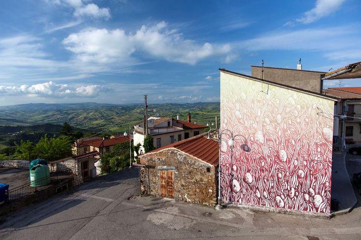 Bonito, Italia: nuovo pezzo dello street artist italiano Tellas per il Boca Contest Art.