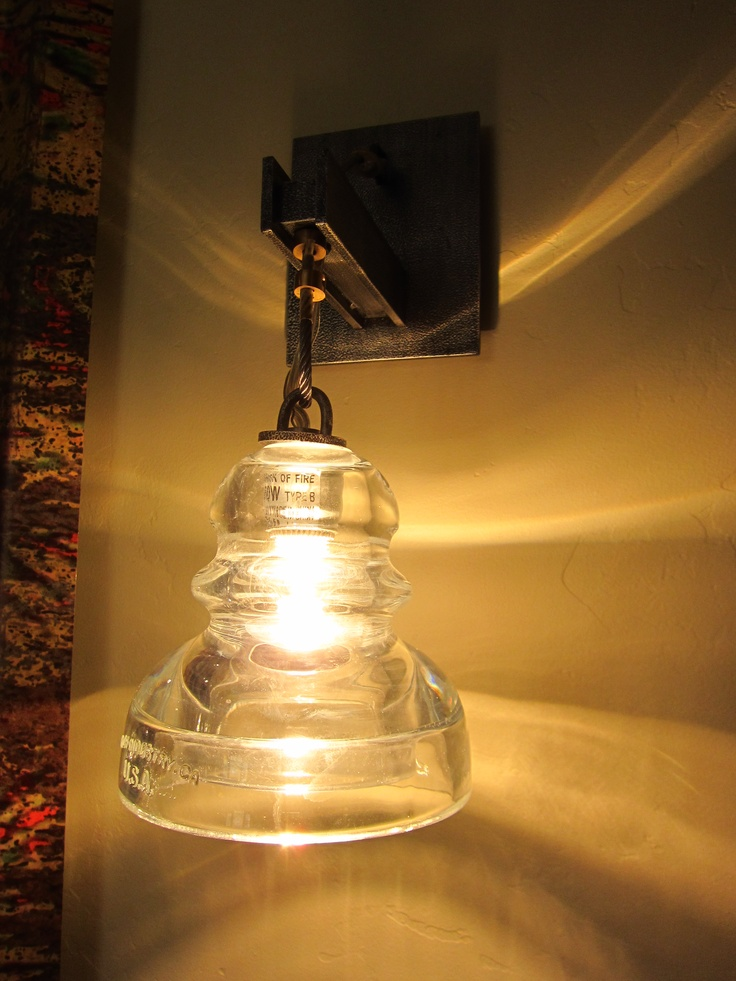 28 best images about old insulator display on pinterest for Telephone insulator light fixture