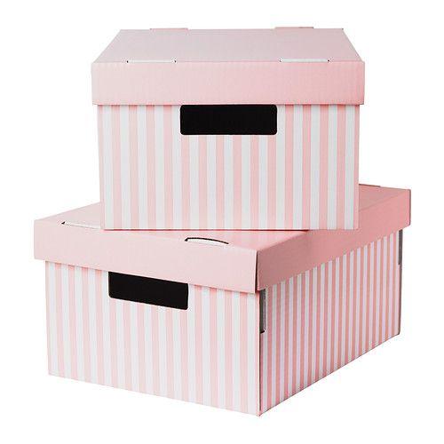 PINGLA Caja con tapa IKEA Gracias al fondo reforzado, puedes utilizar esta caja para guardar los objetos más pesados como los libros. diferentes medida