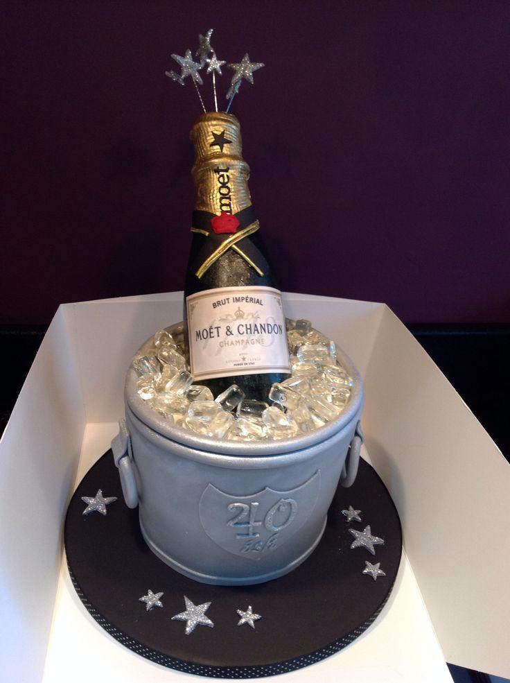 Champagne bucket cake / 40 th birthday cake