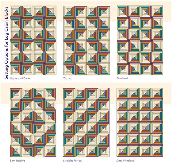 Stunning Log Cabin Quilt Layouts And Modern Ideas …