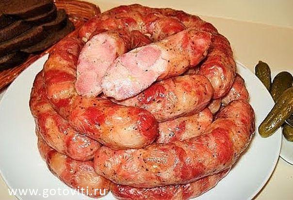 Домашняя Куриная колбаска - Вкуснотища ! БЕЗ ХИМИИ !
