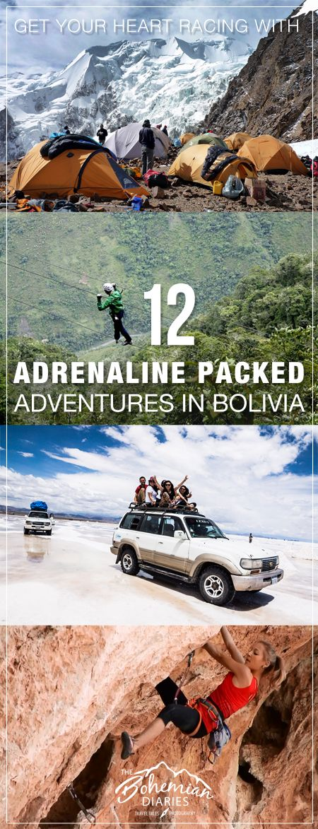 Bolivia is full of adventure for those looking to get their heart racing and adrenaline pumping! Get high paragliding, conquer the Andes, rappel waterfalls and