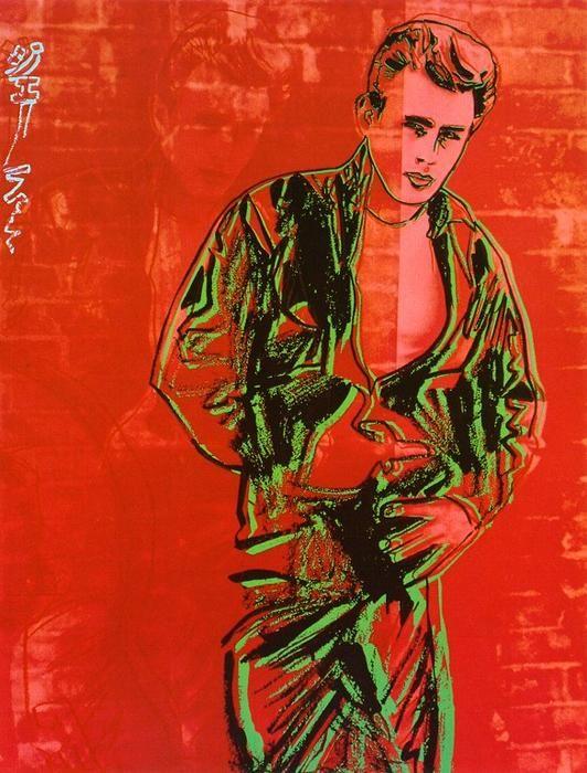 'James Dean' de Andy Warhol (1928-1987, United States)