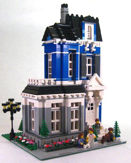 308 besten lego houses bilder auf pinterest lego haus for Lego modernes haus