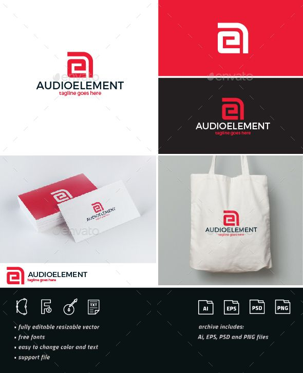 Audio Element Logo Ae Monogram Diseno De Marca Disenos De
