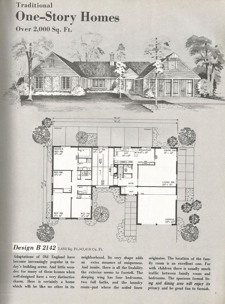 Best 25 vintage house plans ideas on pinterest bungalow for Antique house plans