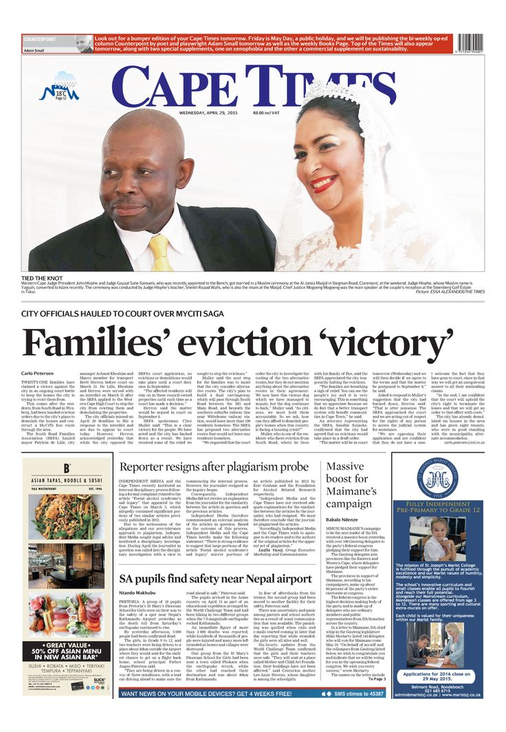 News making headlines: Families' eviction 'victory'