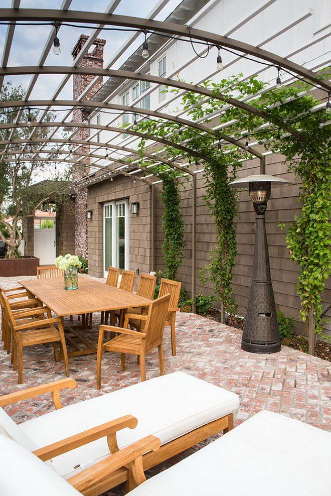 Great Side Yard   Metal Trellis And Arbor, Trailing Vines, Brick Patio, Long