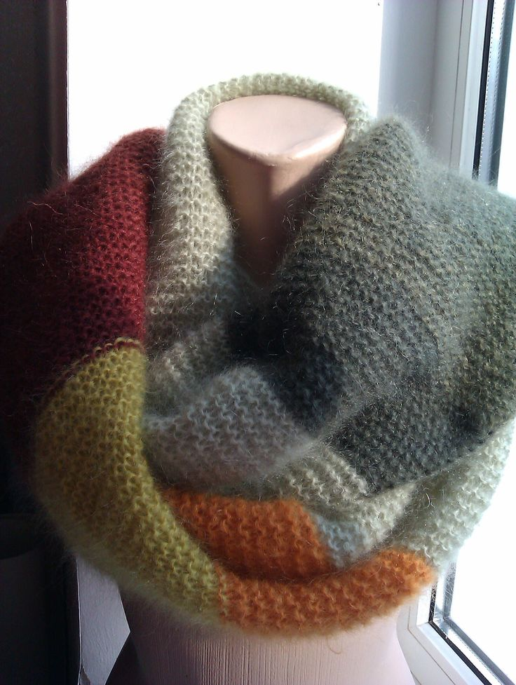 Mohear scarf knit. Stylish and warm