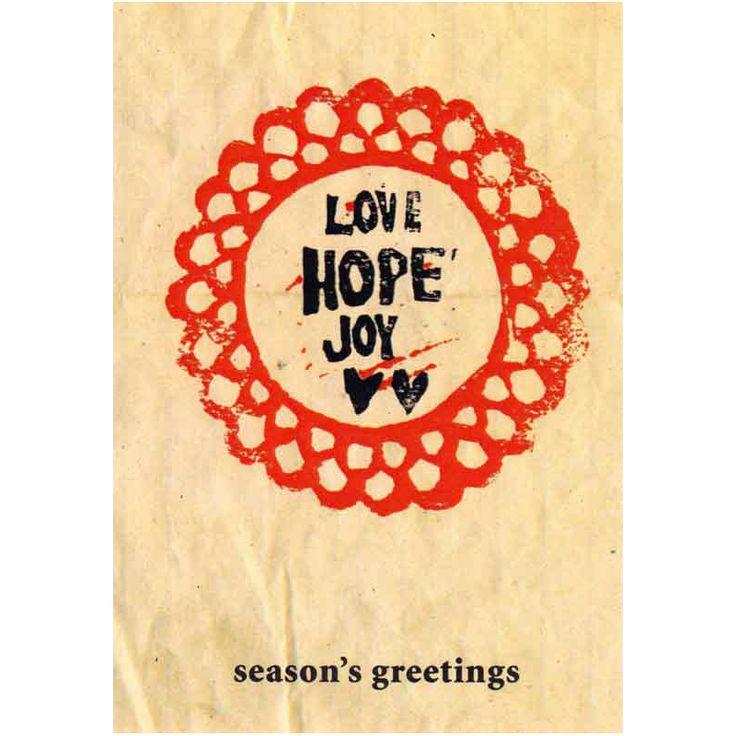 Love Hope Joy  Card