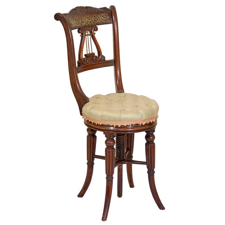 Rosewood Classical Piano Stool or Dressing Table Seat,  England, circa 1820   HEIGHT:37 in. (94 cm)  DIAMETER:14 in. (36 cm)