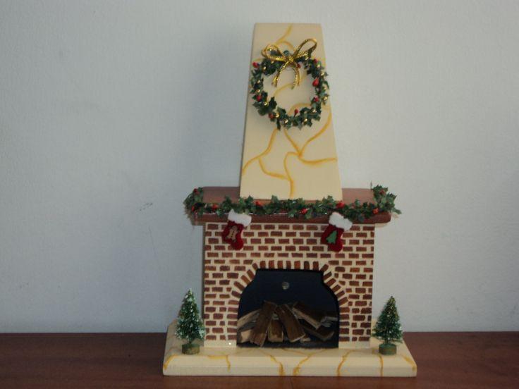 Chimeneas navide as de carton buscar con google - Chimeneas decoradas ...
