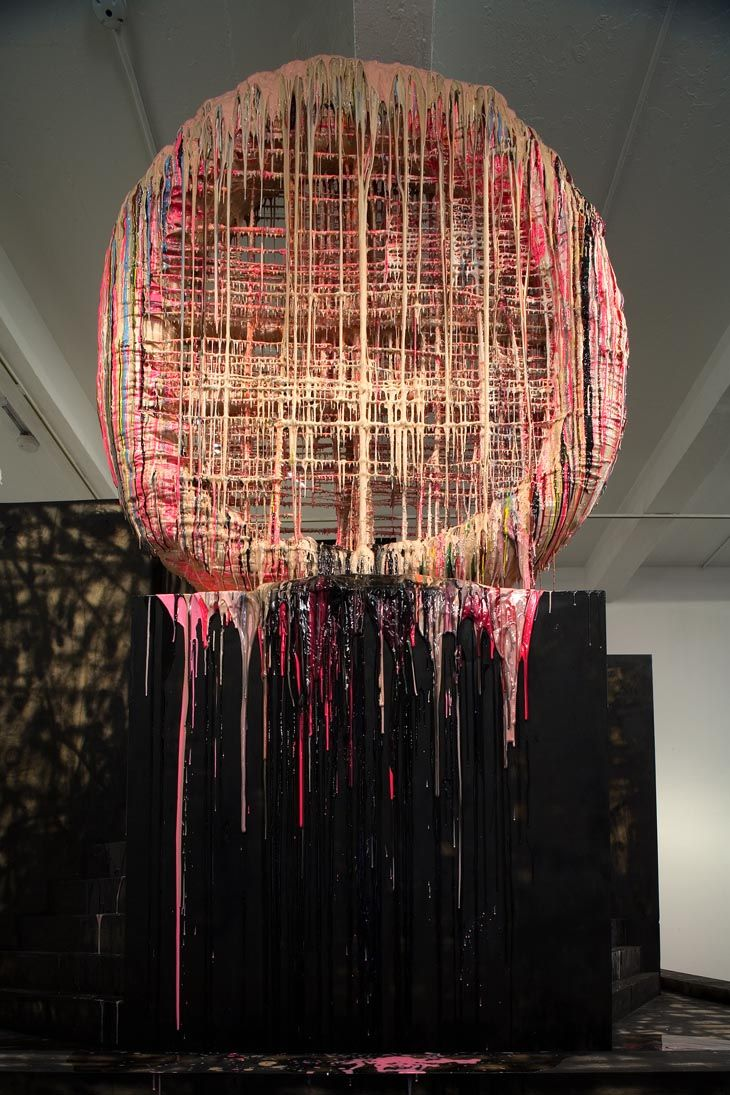 Sterling Ruby - Recondite (and 2 details)  In contrast to the pure conceptual forms of minimalism.