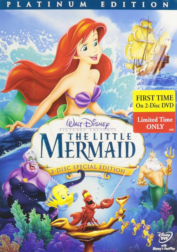 The Little Mermaid (Disney, 2-Disc Platinum Edition, DVD)
