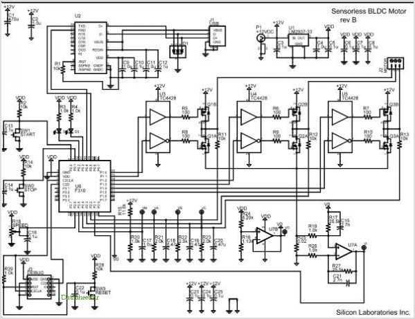 Sensorless Brushless Dc Motor Reference Design application