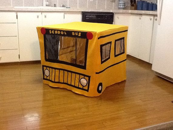 School bus card table playhouse by sowingmomma on etsy for School playhouse