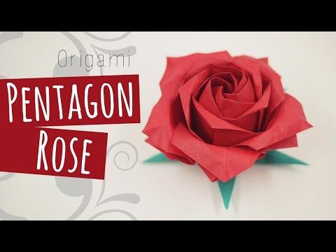 How to Make Paper Real Roses - Origami Rose Quick and Super Easy Way Tutorial - YouTube