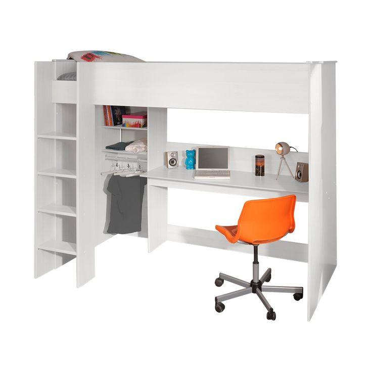 Swan hoogslaper met bureau wit   stevige hoogslapers   Emob4kids   Kid u2019s Room   Pinterest